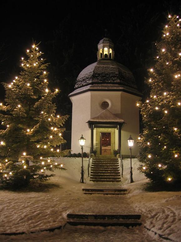 Sveta noč: spominska kapela Svete noči v Oberndorfu blizu Salzburga