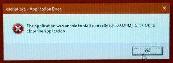cscript error
