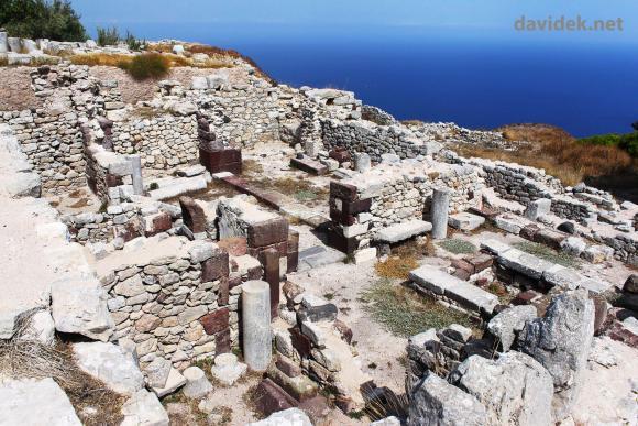 Starodavna Thera na otoku Santorini / Ancient Thera on Santorini Island
