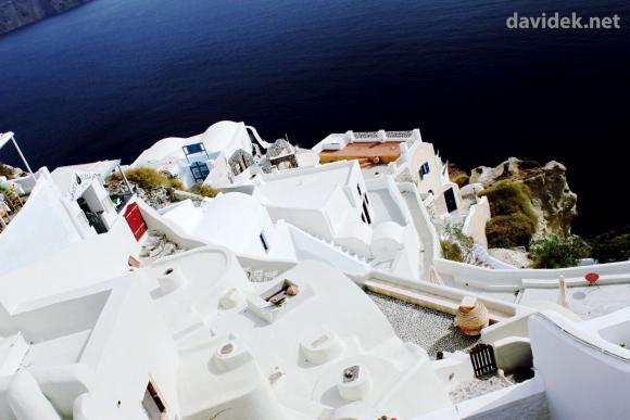 Otok Santorini - pogled na morje