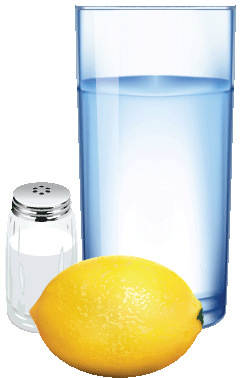 Voda, sol in limona